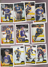1987 OPC Team SET lot of 11 Los Angeles KINGS NM/MT o-pee-chee ROBITAILLE (R)