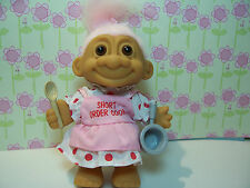 "SHORT ORDER COOK - 5"" Russ Troll Doll - NEW BAG - Light Pink Hair"