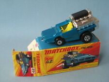 Lesney Matchbox Superfast Tyre Fryer Hot Rod Blue Body Boxed Retro 70's