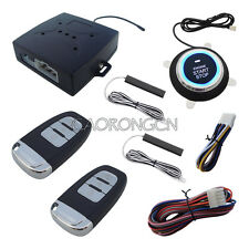 Rolling Code PKE Car Alarm With Finger Touch Engine Start & Stop Push Button