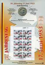 Numisblatt 3/ 2003 50 Jahrestag 17. Juni 1953 mit 10 Euro 2003 Silber KI2462