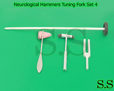 Neurological Hammers Tuning Fork Set 4 Medical Surgical Diagnostic instruments