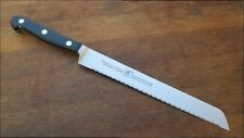 Superb Vintage Henckels Chef's Forged Stainless Serrated Bread/Slicing Knife