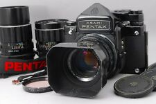 【Exc+++++】Pentax 6x7 67 TTL Mirror up w/ SMC T 75mm,105mm,200mm,3Lens,From Japan