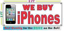 WE BUY iPHONES Banner Sign Best Quality for the $$$ Full Color