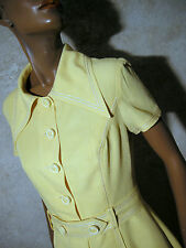 CHIC VINTAGE ROBE 1960 VTG DRESS 60s MOD SCOOTER KLEID 60er ABITO RETRO (36/38)
