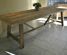 Large Rustic French Style Recycled Timber Refectory Dining Table ~ Industrial