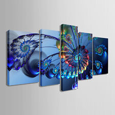 Not Framed Canvas Print Home Decor Modern Wall Art Animal Blue Peacock Picture