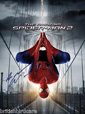 The Amazing Spiderman 2 Andrew Garfield Signed Movie Film Poster A2 Size 59x42cm