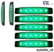 5 pezzi 12V 12 VOLT SMD 6 LED VERDE INDICATORE LATERALE LUCE POSIZIONE CAMION