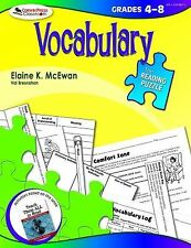 The Reading Puzzle: Vocabulary, Grades 4-8, Elaine K. McEwan-Adkins, Good Book