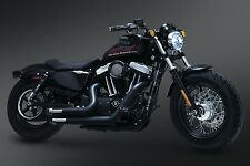 CRUSHER MAVERICK BLACK EXHAUST HARLEY SPORTSTER 1200 NIGHTSTER 1200N 1200R