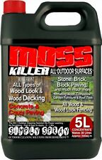 PATIO FENCING DECKING MOULD ALGAE MOSS KILLER REMOVER DRIVE CLEANER PATH 1 X 5L