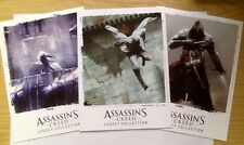 ASSASSINS CREED SET OF 3 LIMITED COLLECTOR'S LEGACY LITHOGRAPHS / ART CARDS NEW!