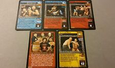 WWE Raw Deal HEAT SEEKERS 5 card starter set Regal Tajiri Carlito Mexicools