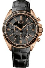 NEW HUGO BOSS 1513092 MENS ROSE GOLD DRIVERS SPORTS WATCH - 2 YEAR WARRANTY
