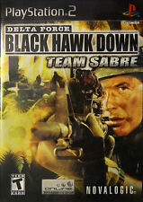 Delta Force: Black Hawk Down Team Sabre PS2 Sony PlayStation 2, 2006 COMPLETE