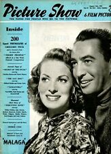 PICTURE SHOW - UK MOVIE MAGAZINE -GEORGE COLE  - MAUREEN O'HARA - 14 AUG 1954