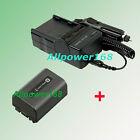 AC/DC Battery + Charger For NP-FV50 NPFV5 SONY DCR-SR68 DCR-SR68E HDR-XR520