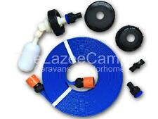 Caravan Mains Water Universal Fill Adaptor FLAT Food GRADE Hose Aqua Roll Hog