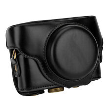 Detachable Leather Camera Case Bag Cover Protector Strap for Sony RX100-M4 Black
