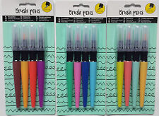 12 x Pinselstift ♥ Brush Pen ♥ Manga ♥ Stempel ♥ color ♥ Calligraphie ♥lettering