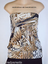 TOP - STRAPLESS – TUBE TOP - SEXY – SPARKLY – ANIMAL PRINT – JR SIZE S – NEW $32