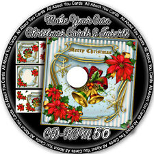 Make Your Own Christmas Card Fronts & Inserts CD-ROM 50