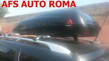 BOX AUTO PORTAPACCHI G3 HELIOS 480 NERO MONTATO SU BARRE ORIGINALI QASHQAI