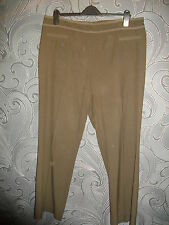 CLASSY * MARKS & SPENCER * CHOCOLATE BROWN TROUSERS WITH STRETCH SIZE 18 - 30L