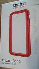 Tech21 Impact Band w/ Clear Back Plate Protective Band Pink iPhone 5c