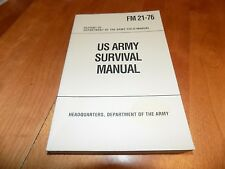 US ARMY SURVIVAL FM 21-76 Survive Wilderness Military Wildlife Guide Book