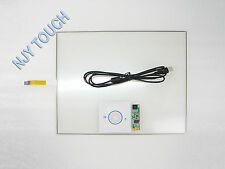 """15"""" Inch 4 Wire Touch Screen Panel USB Controller Kit 322x247mm DIY LCD Monitor"""
