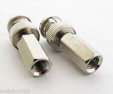 3pcs BNC male plug twist on RG59 - U connectors Nickel NEW