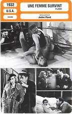 FICHE CINEMA : UNE FEMME SURVINT - Beery,Cortez,Morley,Ford 1932 Flesh
