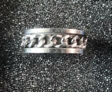 Stainless Steel Ring with Revolving Chain - Size 11 - New -