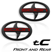 1- Set BRAND NEW SCION TC Front and Rear Black Badge Emblem 2011-2016 tC F/R MBR
