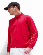 Mens New Full Zip Red Jerzees 176 Cadet Sweatshirt - Raglan Sleeves, Zip Pockets