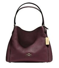COACH EDIE 31 PEBBLED OXBLOOD LEATHER SHOULDER BAG 36464 ~ $350