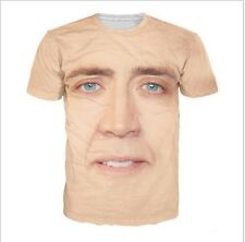 The Giant Blown Up Face Of Nicolas Cage T-Shirt National Treasure 3D Print Shirt