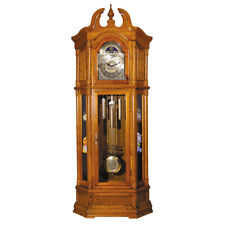 Filmour Collection Traditional Style Grandfather Clock in Oak Analog clock face