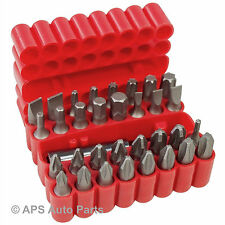 New 33pc Power Bit Set Screwdriver Phillips Torx Hex Star Square Flat Magnetic