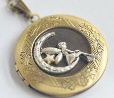 Angel fairy maiden fairy tale Bronze locket necklace personalized L033