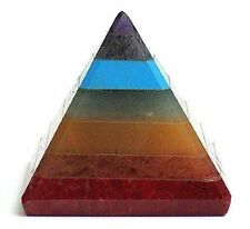 TINY Yet Powerful 7 Stone Chakra Pyramid Well Crafted Orgone Golden Quartz 30 mm