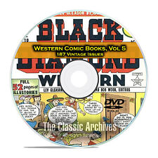 Western Comic Books, Vol 5, Black Diamond, Gunsmoke, Dead Eye Golden Age DVD D63