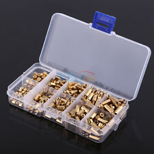 300Pcs M3 Brass Hex Standoff Spacer Fastener Screw Nut Assortment DIY Set + Case
