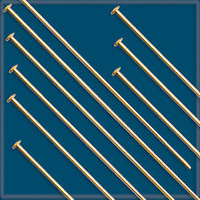 "50pcs 2"" 12K GOLD FILLED HEADPINS 24 gauge"