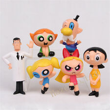 The Powerpuff Girls Cartoon Network PVC Figure Toy Kid Present 6pcs/set