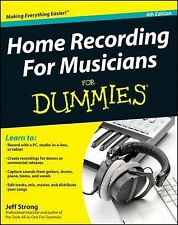 Home Recording For Musicians For Dummies, Strong, Jeff, New Book