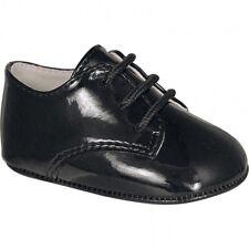 NWT Baby Deer Black Patent Dress Oxford Crib Shoes Boys 0-3M  Size 1 Classic